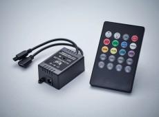 Sterownik muzyczny do taśm LED białych/RGB, Sterowanie dźwiękiem, ściemnianiem