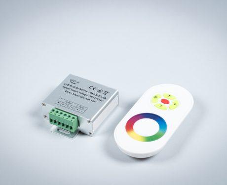 Sterownik RGB radiowy dotykowy, biały, 12V, 18A do 216W [TLAR11]