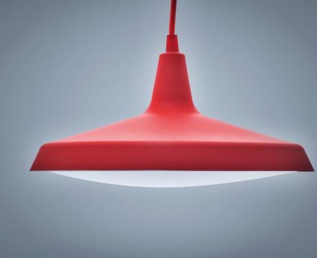 Lampa podwieszana LED żyrandol obudowa gumowa czerwona 11W [LAM11]