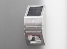 Solarna lampa fasadowa SilverWall LED z czujnikiem ruchu ogniwo 0.4W [S0004]
