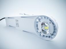 Oprawa uliczna LED Bridgelux 50W MeanWell driver IP65 aluminiowa biała obudowa [UOB50]