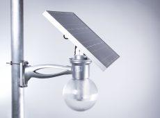 Zestaw solarny 12W - lampa LED, panel, bateria i pilot [LS12]