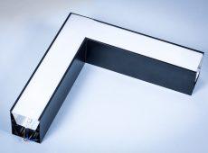 Oprawa Liniowa LED Linea podwieszana - narożnik horyzontalny 20W czarna obudowa [LPCH40B]