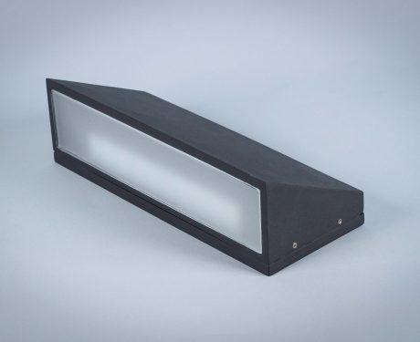 Lampa naścienna LED zewnętrzna, solidna metalowa czarna, jednokierunkowa 10W IP54 [WL003]
